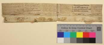 Vorderseite des ersten Doppelblatts mit Farbkeil