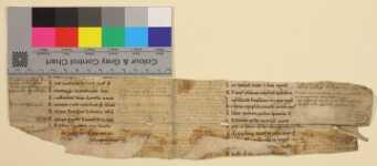 Vorderseite des zweiten Doppelblatts mit Farbkeil