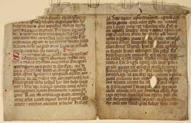 Rückseite des Doppelblatts
