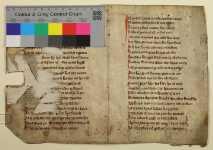 234-2: Vorderseite des Doppelblatts mit Farbkeil